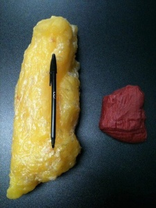 2.5kgs of fat v 2.5kgs of muscle